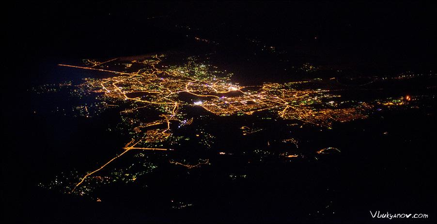 Фотограф Владимир Лукьянов, Казань ночью с воздуха