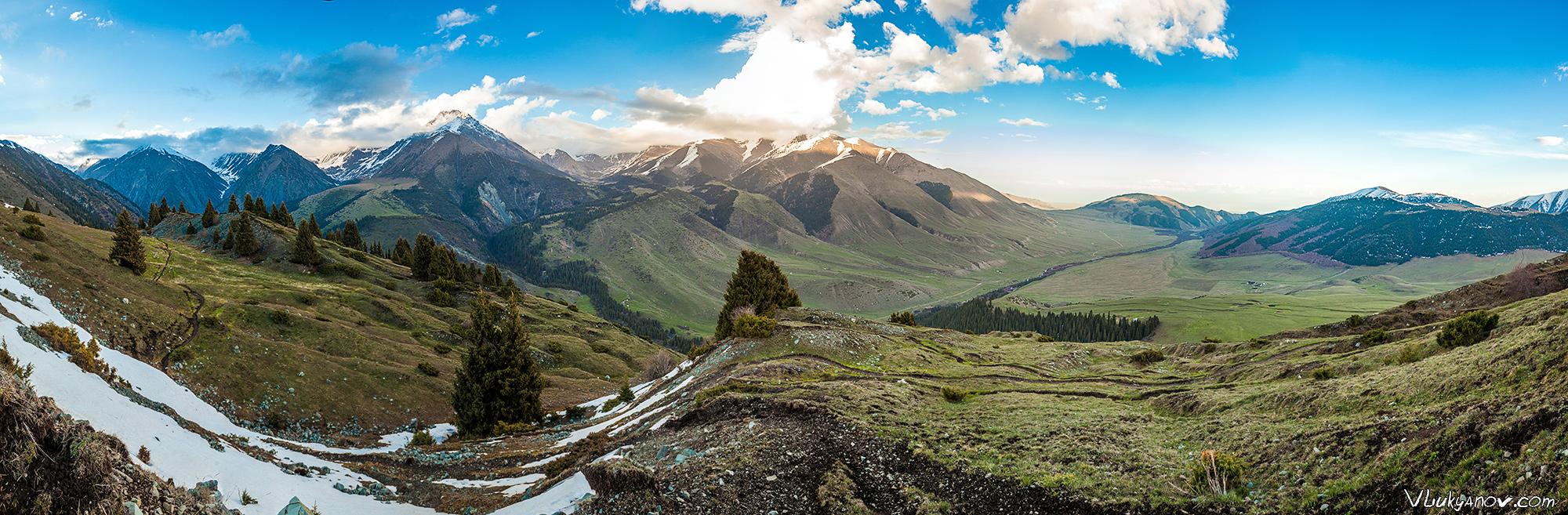 Панорама, Семеновское ущелье, Киргизия, Иссык-куль, Тянь-Шань, Поход, Владимир Лукьянов, Фотограф