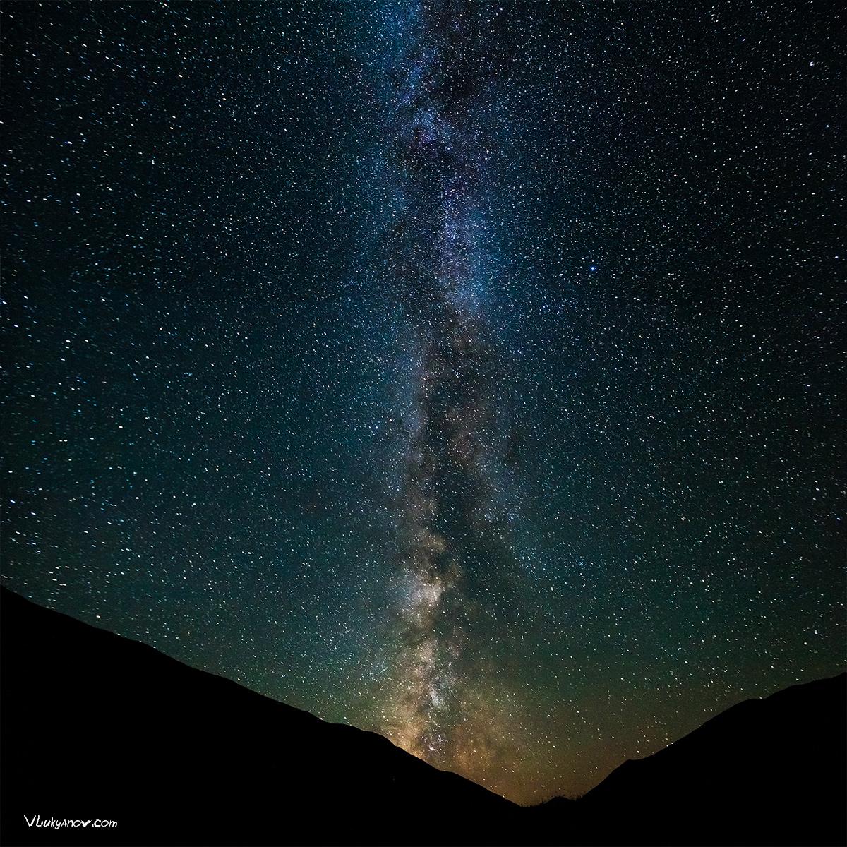 Владимир Лукьянов, Фотограф, поход, природа, Грузия, Сванетия, горы, небо, звезды, млечный путь, астрономия, астрофотография