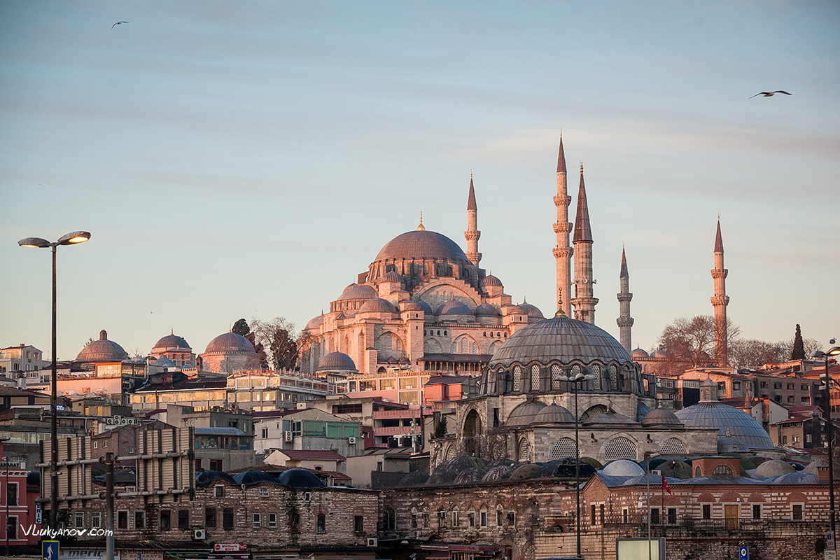 Владимир Лукьянов, Фотограф, Стамбул, Турция, Путешествие, Рассвет, утро, солнце, море, архитектура