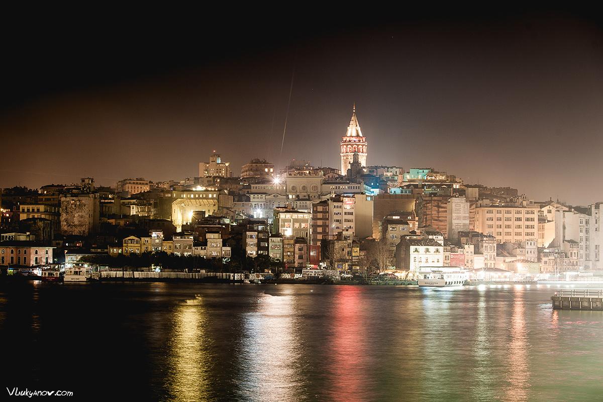 Владимир Лукьянов, Фотограф, Стамбул, Турция, Путешествие, город, архитектура, ночь, вечер