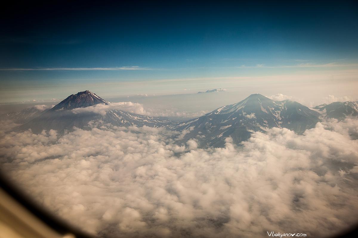 Владимир Лукьянов, Фотограф, Россия, полет, облака, закат, Камчатка, север, солнце, горы, природа